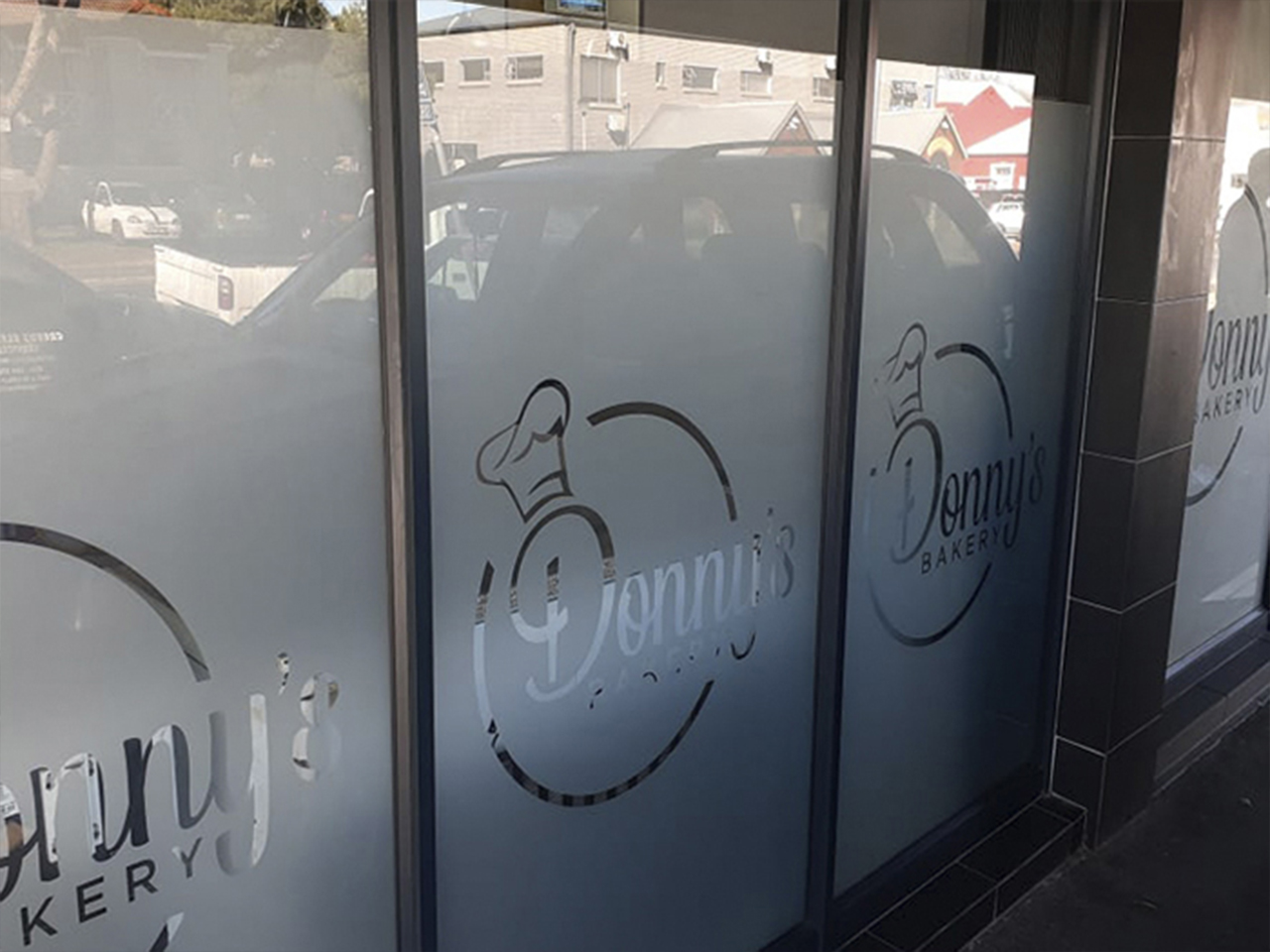 Donnys Bakery Shop Signage