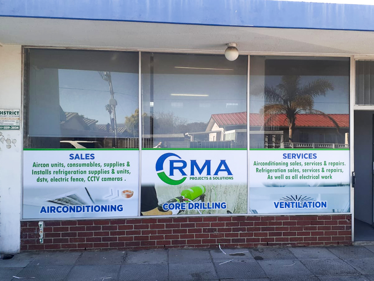 RMA Projects and Solutions Shop Signage