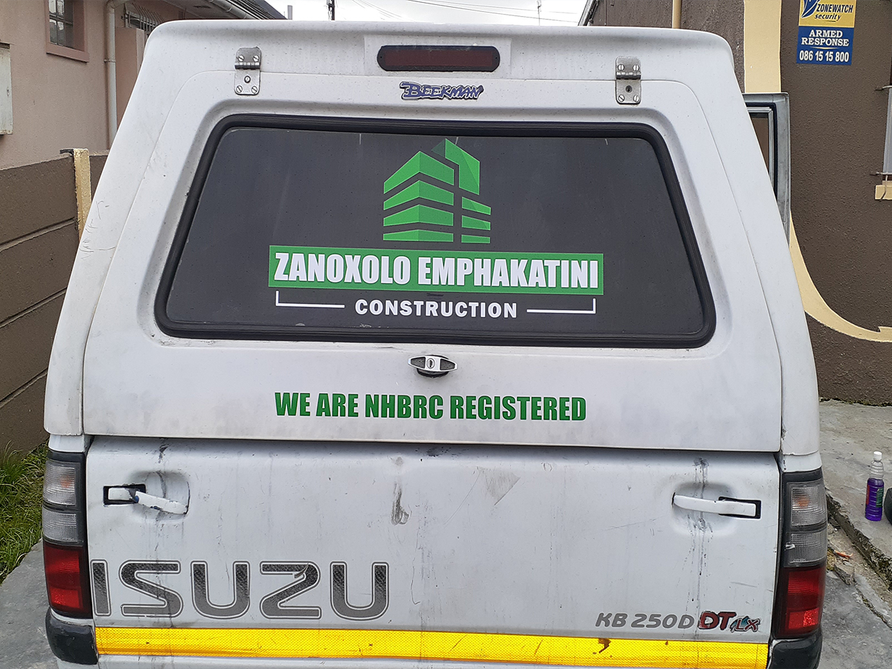 Zanoxolo Emphakatini Construction Vehicle Branding Cut Out Vinyl