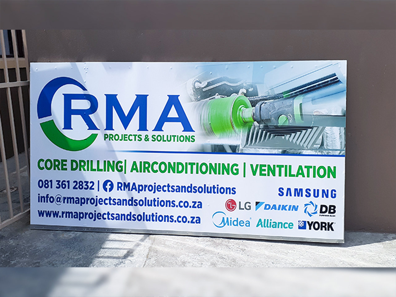 RMA Projects and Solutions Shop Signage Vinyl on Chromadek