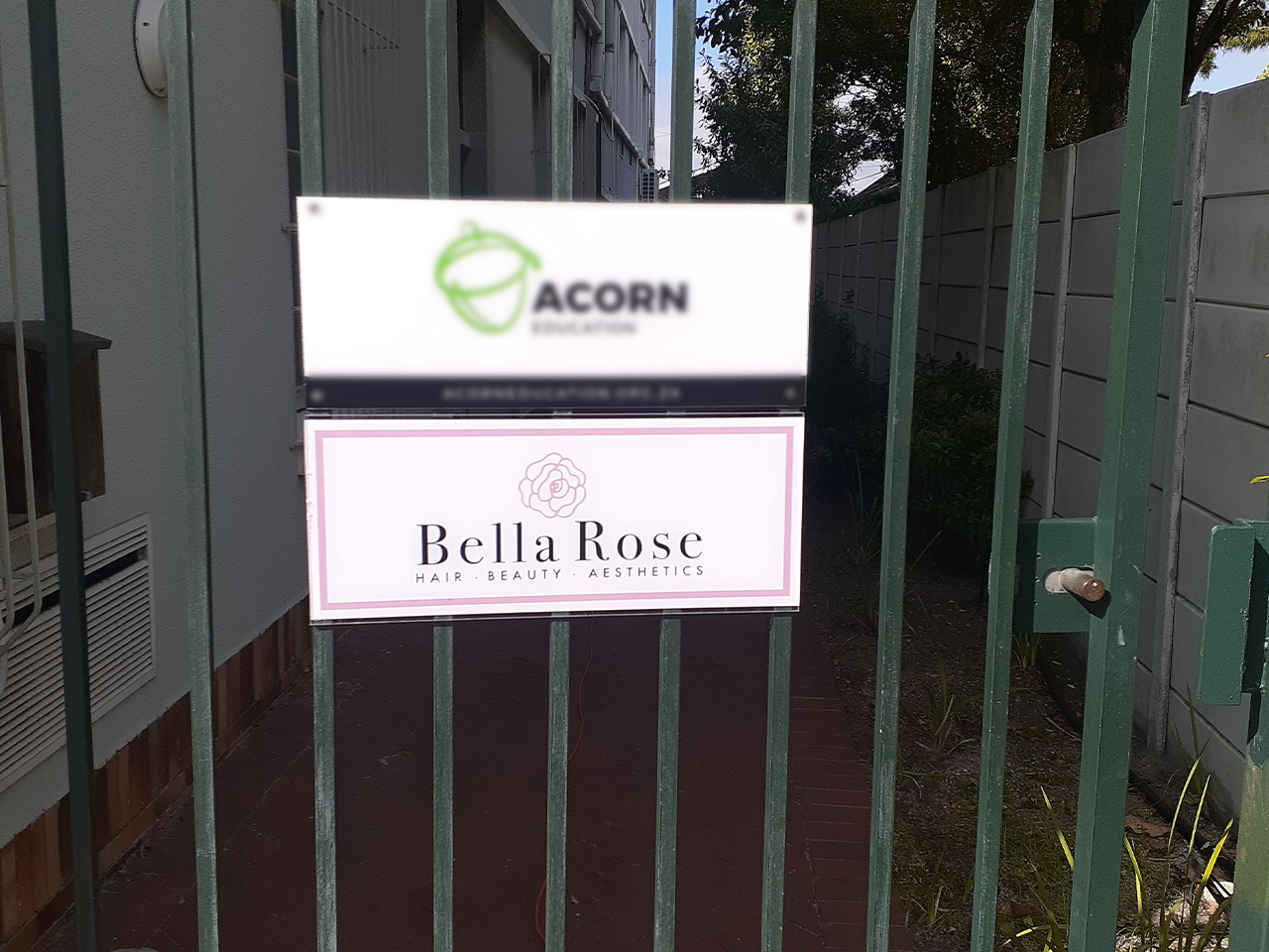 Bella Rose Shop Signage Cut Out Vinyl on Perspex