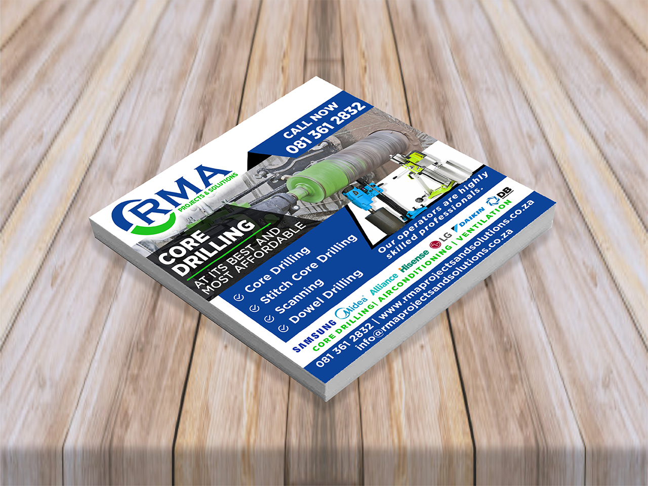 RMA Projects And Solutions Flyer Design