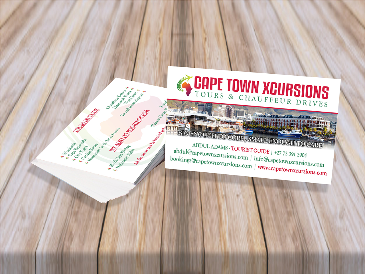Cape Town Xcursions Business Cards