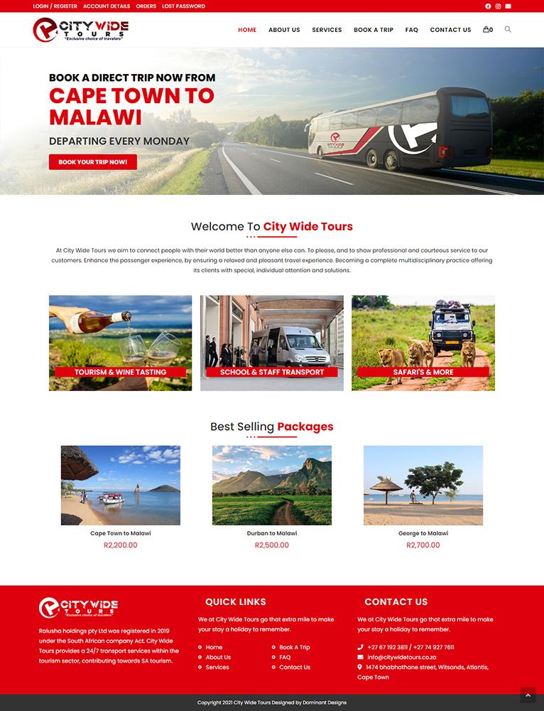 City Wide Tours Website Design