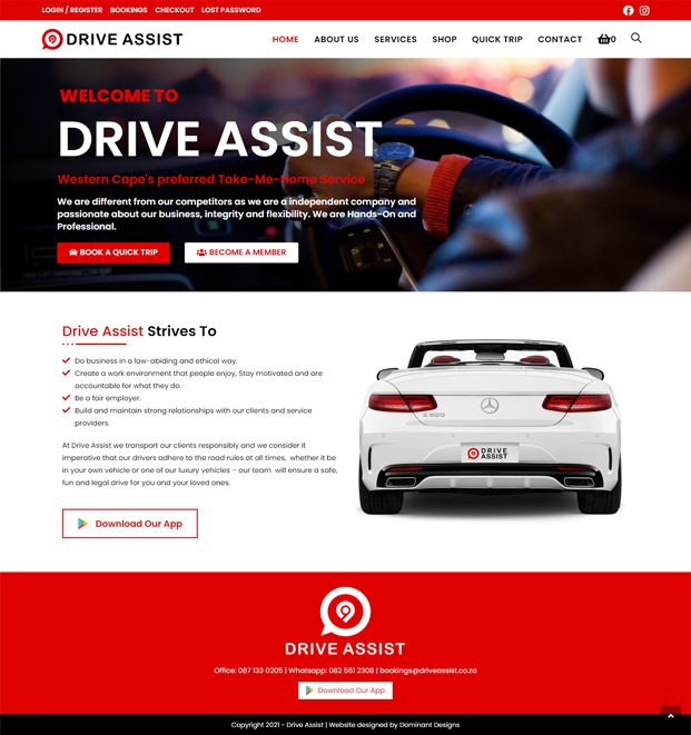 Drive Assist Website Design