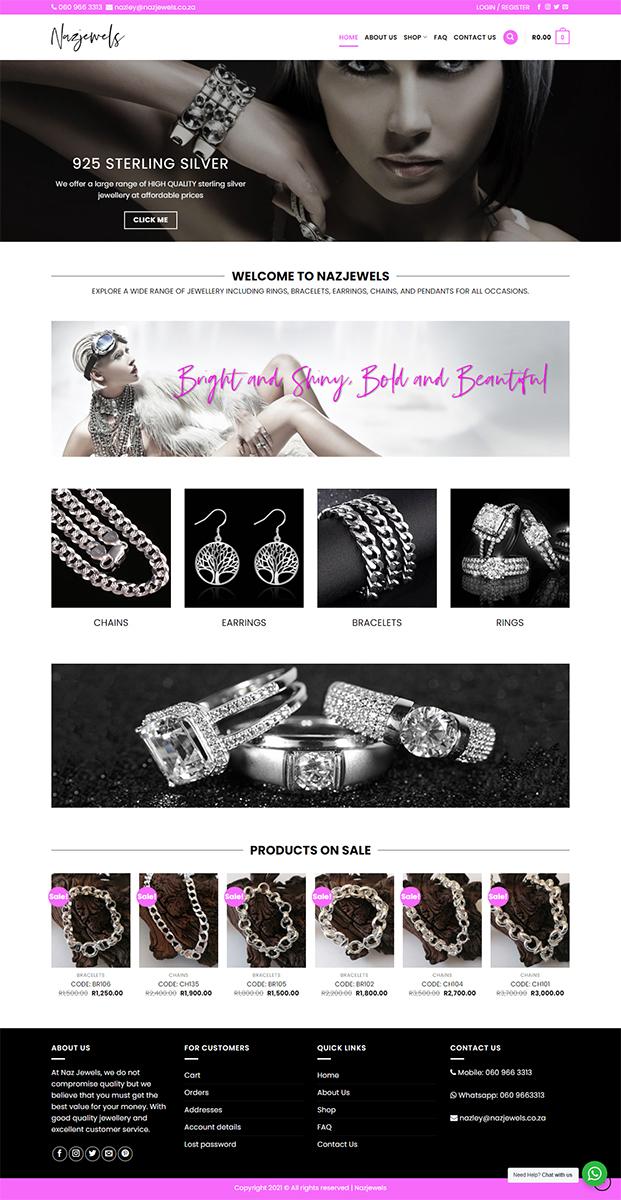 Nazjewels Website Design