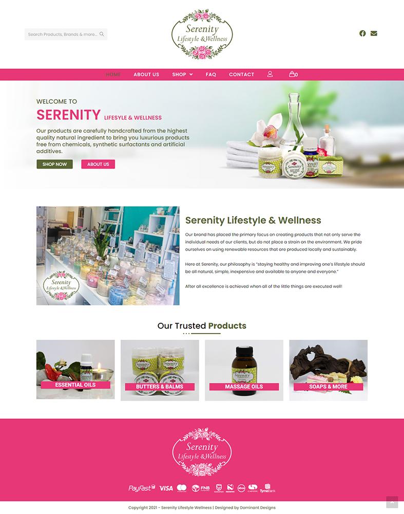 Serenity Lifestyle And Wellness Website Design