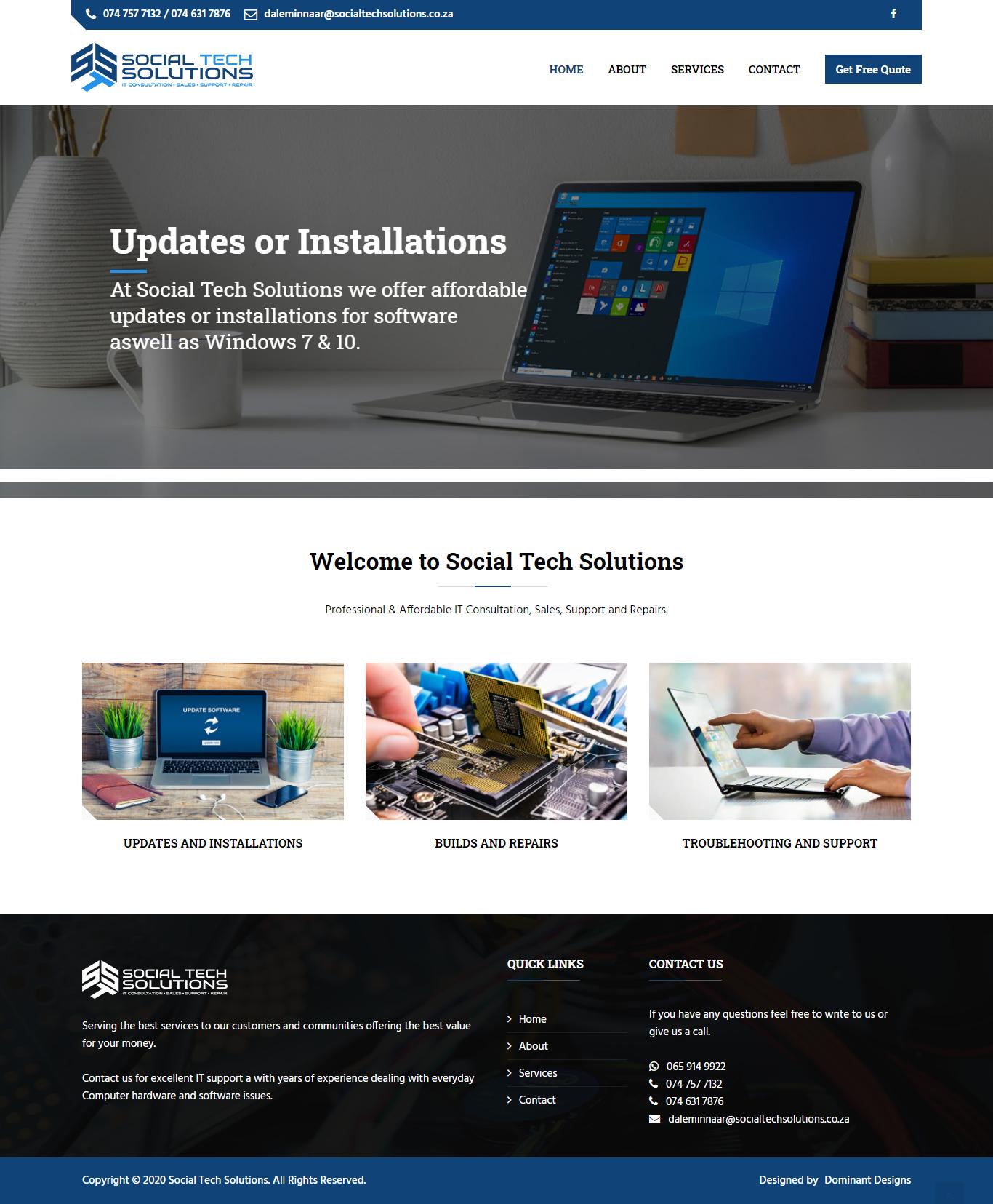 Social Tech Solutions Website Design